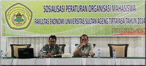 SOSIALISASI PERATURAN ORGANISASI MAHASISWA