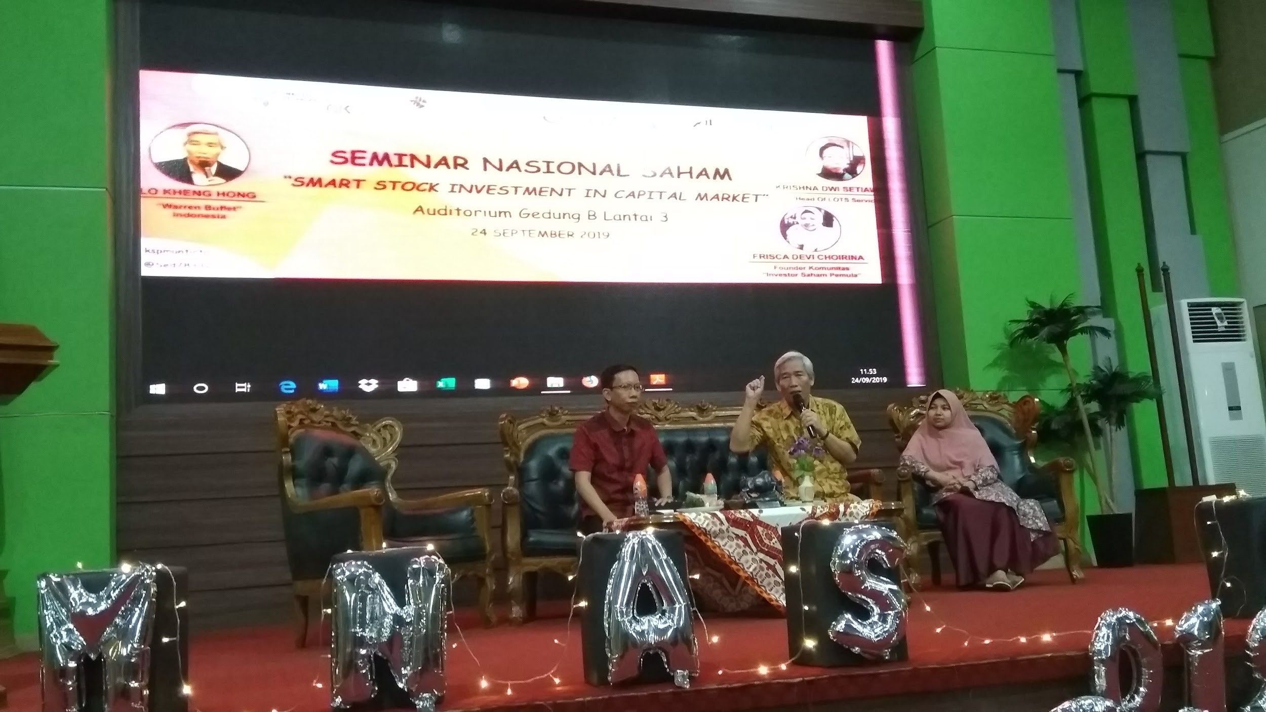 SEMINAR NASIONAL SAHAM 2019: SMART STOCK INVESMENT IN CAPITAL MARKET